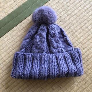 シマムラ(しまむら)のニット帽 紫(ニット帽/ビーニー)