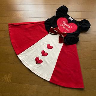 Shirley Temple - ☆シャーリーテンプル☆ハートの女王 ワンピース 120 不思議の国のアリス 美品