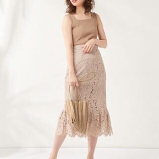 natural couture - 新品ナチュラルクチュール スカラップレーススカート