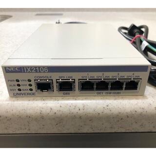 エヌイーシー(NEC)のNEC IX2106VPN対応高速ギガルーター(PC周辺機器)
