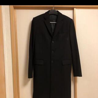ジバンシィ(GIVENCHY)のジバンシイ黒ブラックウールチェスターコート46スーツコート(チェスターコート)