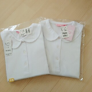 【新品】2枚セット 120 長袖 ブラウスシャツ