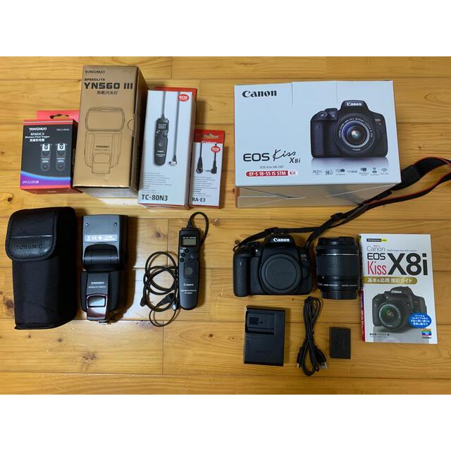 Canon(キヤノン)のCanon EOS Kiss x8i 標準レンズセット スマホ/家電/カメラのカメラ(デジタル一眼)の商品写真