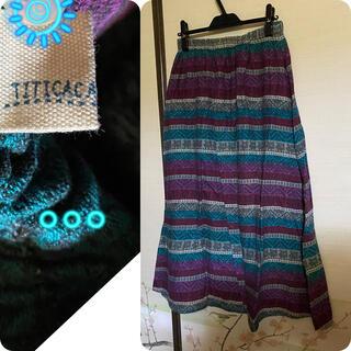 チチカカ(titicaca)のチチカカ🌎ネイティブ柄スカート(ロングスカート)
