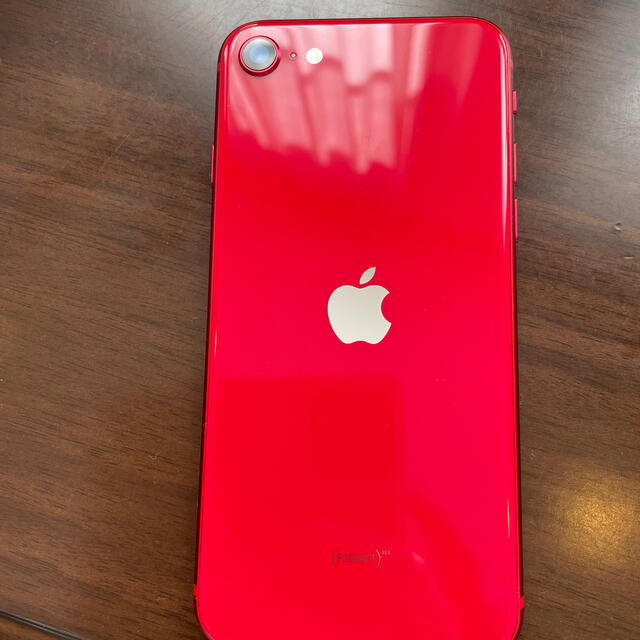 iPhone(アイフォーン)の【値下げ!】iPhone SE2 RED 128GB SIMフリー スマホ/家電/カメラのスマートフォン/携帯電話(スマートフォン本体)の商品写真