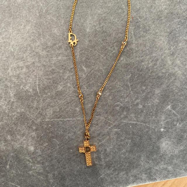 Christian Dior(クリスチャンディオール)のChristianDior 十字架ネックレス レディースのアクセサリー(ネックレス)の商品写真