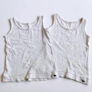 ムジルシリョウヒン(MUJI (無印良品))の無印良品 肌着90 綿100% 肌あたりがやさしいタンクトップ グレー(下着)