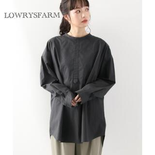 LOWRYS FARM - 美品♡LOWRYSFARM バックリボンシャツ ブラック