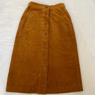UNIQLO - ユニクロ ブラウンカラー ボタンスカート
