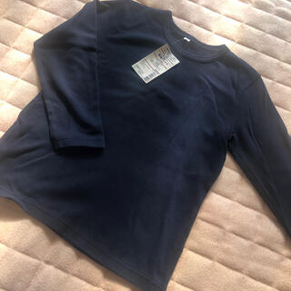 MUJI (無印良品) - 無印 長袖Tシャツ ネイビー 120 新品