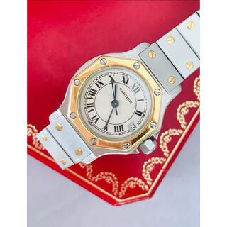 Cartier - 電池交換済み 正規品 Cartier サントスオクタゴンSM QZ 腕時計
