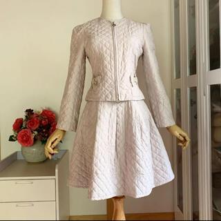 エムズグレイシー(M'S GRACY)の美品 エムズグレイシー  ジャケット&フレアスカート キルティング セットアップ(セット/コーデ)
