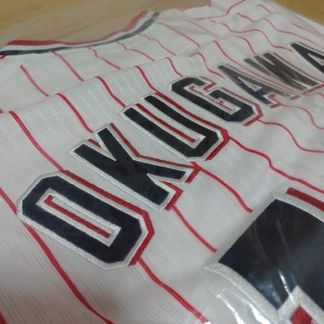 ヤクルトスワローズ 奥川恭伸 刺繍ユニフォーム 新品 スポーツ/アウトドアの野球(応援グッズ)の商品写真