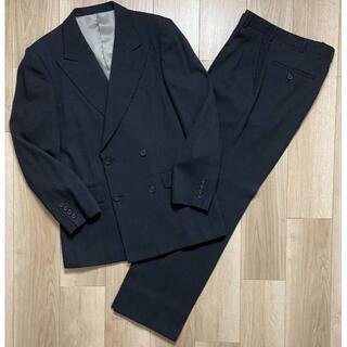 タケオキクチ(TAKEO KIKUCHI)のタケオキクチワイドラペルダブルジャケットスーツチャコールグレーサイズ2(セットアップ)