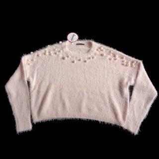 スピンズ(SPINNS)の新品 Spinns スピンズ フェイク パール使い シャギー ニット セーター (ニット/セーター)