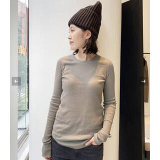 L'Appartement DEUXIEME CLASSE -  L'Appartement RIB L/S TOP    ベージュ  新品
