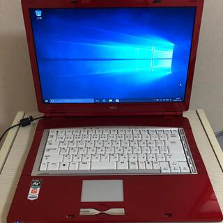 エヌイーシー(NEC)のWin10 NEC ノートパソコン ワインレッド(ノートPC)