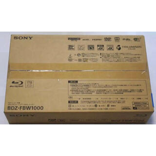 ソニー(SONY)のSONY BDZ-FBW1000 ブルーレイレコーダー4Kチューナー内蔵 新品(ブルーレイレコーダー)