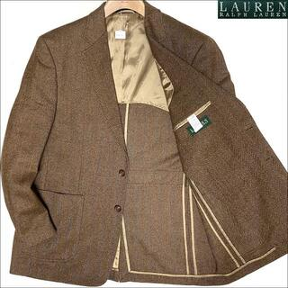 Ralph Lauren - J3010 美品 ラルフローレン ヘリンボーン ツイードジャケット ブラウン43