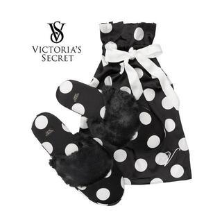 ヴィクトリアズシークレット(Victoria's Secret)の【新品】ヴィクトリアズシークレット ドット柄 スリッパ(その他)