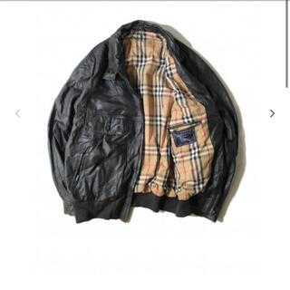 BURBERRY - 80s Burberry's Leather Blouson バーバリー