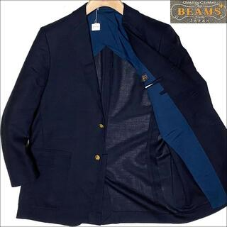 BEAMS - J5130 美品 ビームスプラス 金ボタン 紺ブレザー 紺ブレ 38