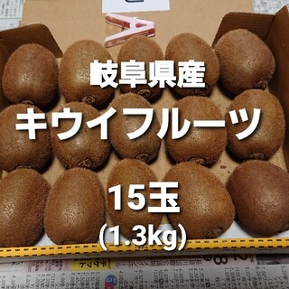 C03 岐阜県産 無農薬 キウイフルーツ 15玉 お得!(フルーツ)