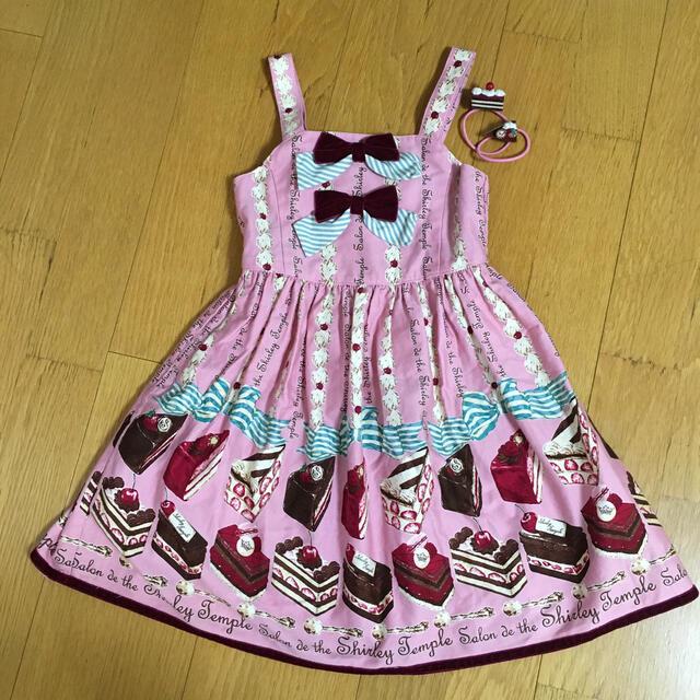 Shirley Temple(シャーリーテンプル)のシャーリーテンプル ケーキ ジャンパースカート セット 110cm  キッズ/ベビー/マタニティのキッズ服女の子用(90cm~)(ワンピース)の商品写真