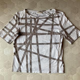 エルメス(Hermes)のHERMESリボン柄Tシャツ(Tシャツ(半袖/袖なし))