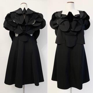 コムデギャルソン(COMME des GARCONS)のAD2016 Junya Watanabe 立体デザイン 変形ワンピース ドレス(ひざ丈ワンピース)