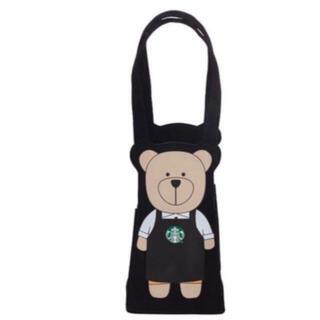 Starbucks Coffee - 台湾 スターバックス ベアリスタ ホルダー バッグ タンブラー ブラック