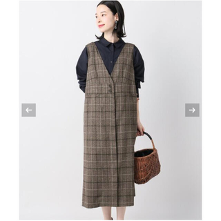 IENA - B.C STOCK 前開きフレアージャンスカ ジャンパースカート