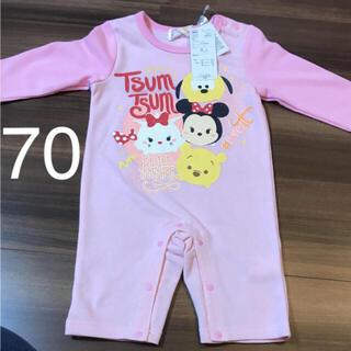 Disney - ディズニーツムツム ロンパース 70cm ピンク