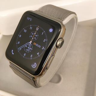 アップルウォッチ(Apple Watch)のApple Watch Stainless製 42mm アップルウォッチ(腕時計(デジタル))