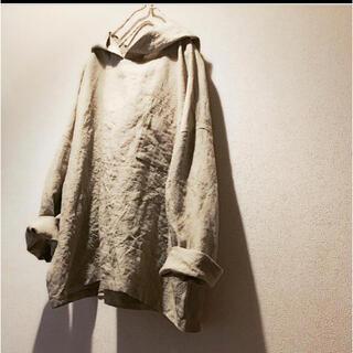 nest Robe - 作家様 胸ポケットのパーカー黄海松茶色