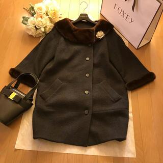 René - Rene ミンク襟のウールのコート