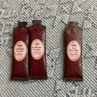 サボン(SABON)のサボン試供品(ローシャンプー グリーンローズ、ヘアマスク グリーンローズ)(シャンプー)