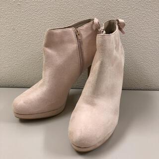 ランダ(RANDA)のスウェード風素材★ラインストーン ショートブーツ(ブーツ)