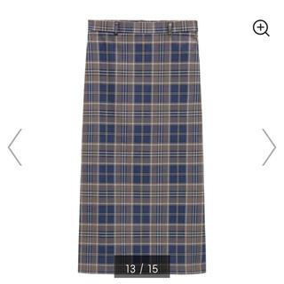 GU - GU チェックナロースカート Sサイズ