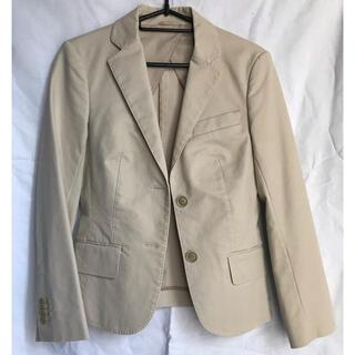 スーツカンパニー(THE SUIT COMPANY)のレディーステーラードジャケット クリーム色(テーラードジャケット)