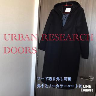 ドアーズ(DOORS / URBAN RESEARCH)のチェスターコート ロングコート ノーカラーコート アーバンリサーチ レディース(ロングコート)