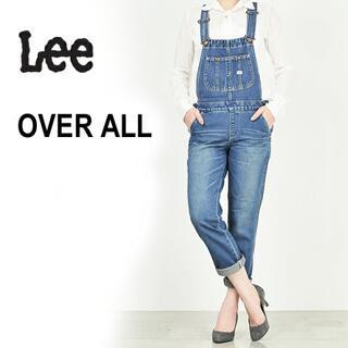 リー(Lee)のLEE テーパードデニムオーバーオール☆Lサイズ(サロペット/オーバーオール)