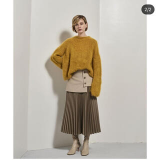 LE CIEL BLEU - 19aw brushed mohair knit マスタード