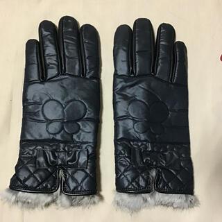 アナスイ(ANNA SUI)のANNA SUI アナスイ ナイロン手袋 内側フリース 手首ラビットファー(手袋)