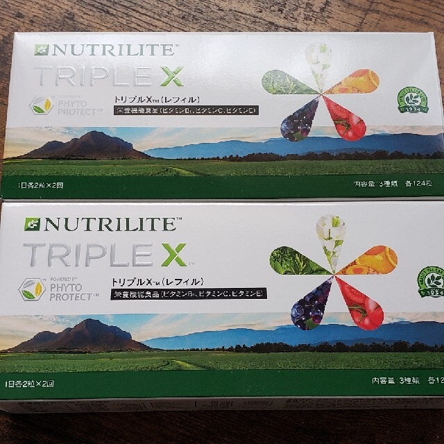 Amway(アムウェイ)のニュートリライト トリプルX 2箱 食品/飲料/酒の健康食品(ビタミン)の商品写真