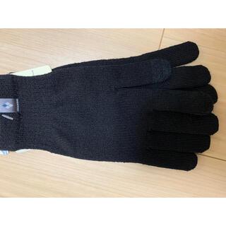 モンベル(mont bell)のモンベル メリノウールグローブタッチ ブラック・タッチパネル対応(手袋)