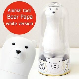 アニマルドライバーセット ベアパパ ホワイト (白熊) 1体