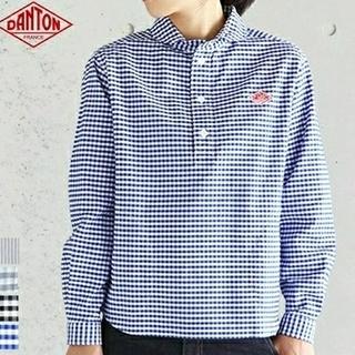 DANTON - ダントン ギンガムチェック プルオーバーシャツ ブルー 36