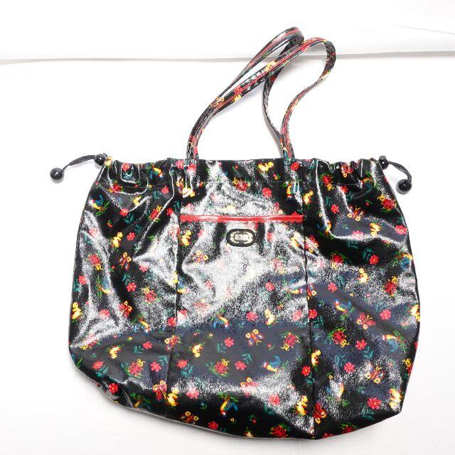 FEILER(フェイラー)の[FEILER] ブラックの花柄トートバッグ レディースのバッグ(トートバッグ)の商品写真