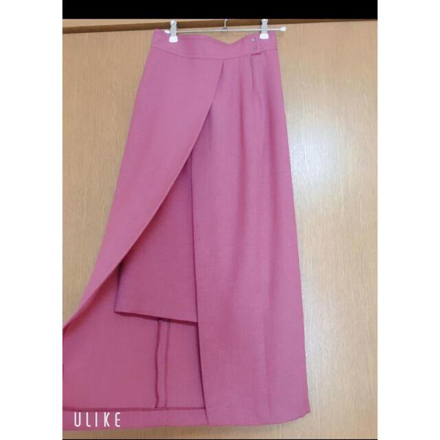 STUDIOUS(ステュディオス)のステュディオス スリットロングスカート ピンク レディースのスカート(ロングスカート)の商品写真